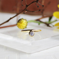 Side-Bezel Set Diamond Ring