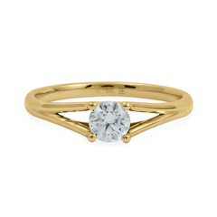 Split-Shank Diamond Solitaire