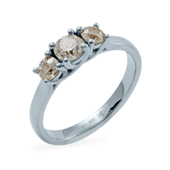 1 Carat Three Stone Diamond Trellis Ring