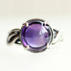 Silver & Amethyst Jellyfish Ring
