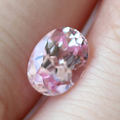 1.64 Light Pink Oval Chatham Grown Sapphire