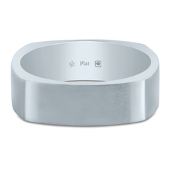 Platinum 6mm Square Band