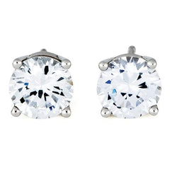 3.5 - 4 Carat Nickel-Free Diamond Earrings