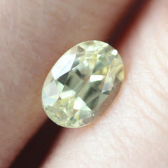 1.09 Light Yellow Oval Chatham Grown Sapphire - Fairtrade Jewellery Co.