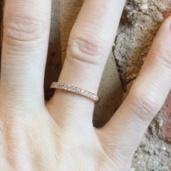 Bead-Set Band with Milgrain with Laboratory Grown Swarovski Precision Cut Diamonds