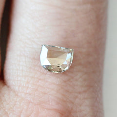 0.57 Smokey Beige Half Moon Rose-Cut Diamond