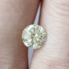 0.90 ct Champagne Colour Round Brilliant Recycled Diamond - Fairtrade Jewellery Co.