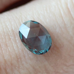 1.07 Colour Change Oval Rose Cut Chatham Grown Alexandrite