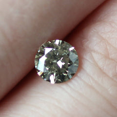 0.46 Moss Green SI1 Round Brilliant Laboratory Grown Diamond