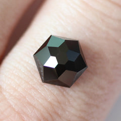 2.57 Black Hexagonal Rose Cut Spinel