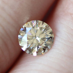 1.02 ct Honey Yellow Round Brilliant Diamond - Fairtrade Jewellery Co.