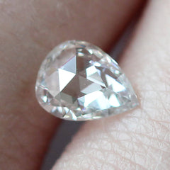 0.59 Pear Rose Cut Nouveau G I2 Post Consumer Diamond