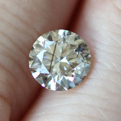 1.11 Faint Champagne Round Brilliant Laboratory Grown Diamond