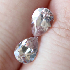 2.08 Pear Shaped Pink Zircon Pair