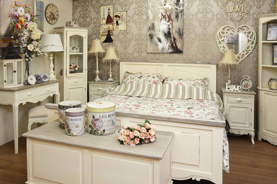 Cheap french shabby chic furniture free uk delivery for Chambre style shabby chic