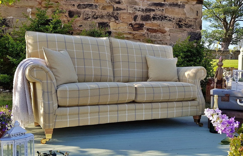 Glencoe Sofa Collection - Country House Elegance In Tartan Or Plain Fabrics