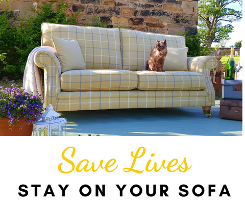 Save lives - stay on your sofa - Glencoe Tartan Sofa - The Interior Outlet