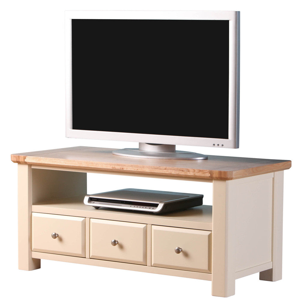 Brand New Old Charm High Quality Ivory 2 Tone TV Stand 3 Drawers & Free Delivery