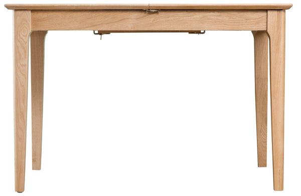Norberg Mid Century Influenced Light Oak 1.2m Butterfly Extending Table - £429