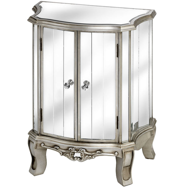 Epernay Shabby Chic Mirrored Two Door Unit | Free Delivery