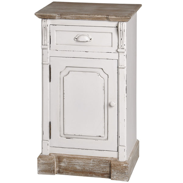Vermont Rustic Shabby Chic Left Hand Side Bedside Cabinet | Free Delivery