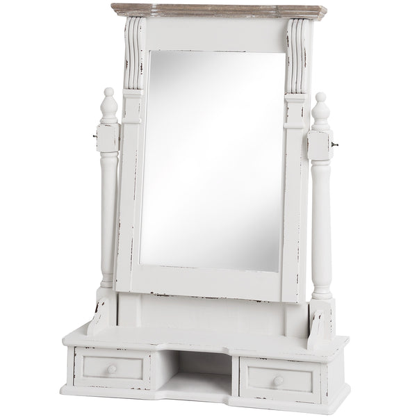 Vermont Rustic Shabby Chic Dressing Table Mirror | Free Delivery