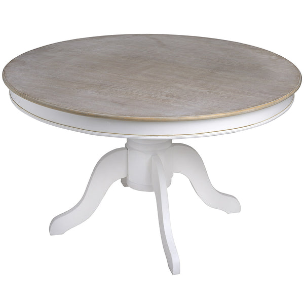 vermont rustic shabby chic round dining table free delivery