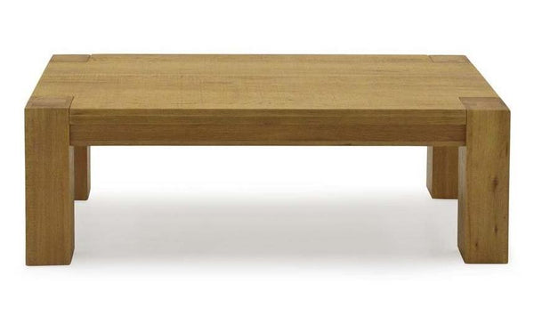 Lodge Contemporary Style Premium Chunky Oak Coffee Table