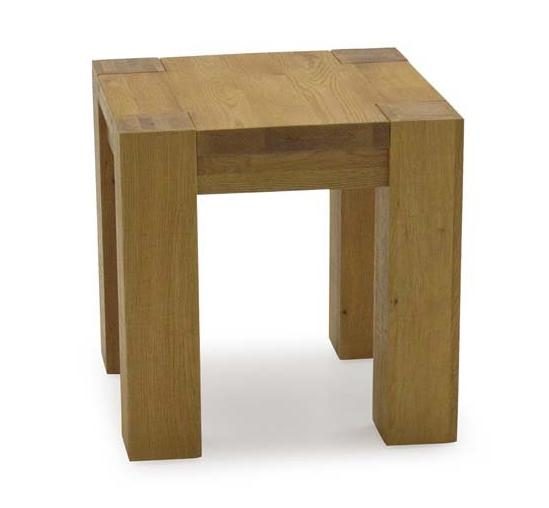 Lodge Contemporary Style Premium Chunky Oak Lamp Table