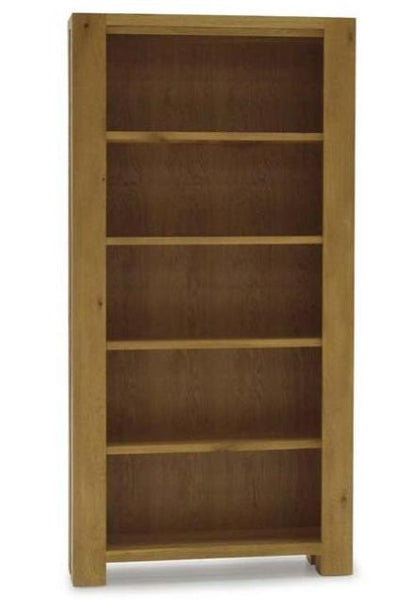 Lodge Contemporary Style Premium Chunky Oak Tall Book Case