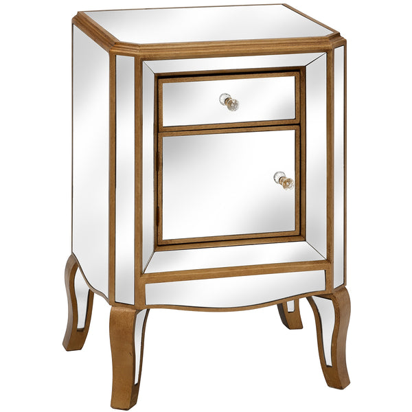Vienne Mirrored Bedside Cabinet / Lamp Table | Free Delivery