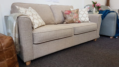 Portia Neutral Chenille Sofa Bed With Immediate Dispatch - £649 RRP £1250