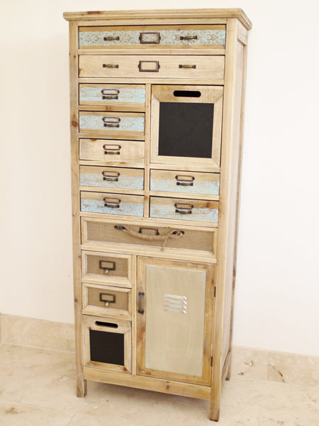 Distinctive Vintage Industrial Chic Multi Drawer Tall Chests - £259