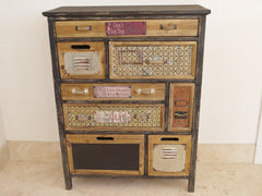 Quirky Vintage Industrial Chic Multi Drawer Tall Apothecary Chests - £259