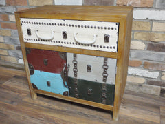 Quirky Vintage Industrial Chic Metal Suitcase Drawer Cabinets