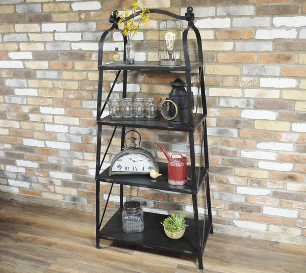 Quirky Vintage Industrial Metal Shelves / Bookcase - Only £199