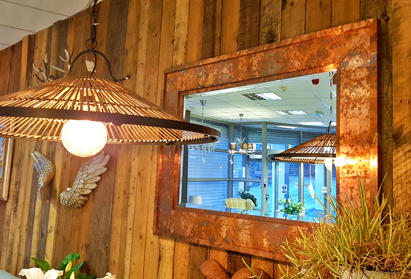 Copper Mirror - Industrial Chic 122cm Acid Washed Copper Mirror