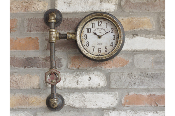 Vintage Industrial Style Pipework Wall Clocks
