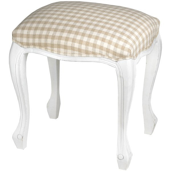 French Vintage White Collection Stool