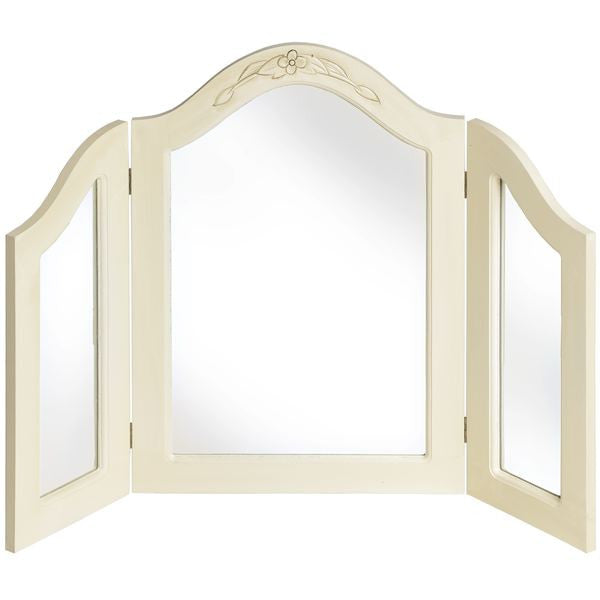 Jolie Country Cream Collection 3 Way Dressing Table Mirror