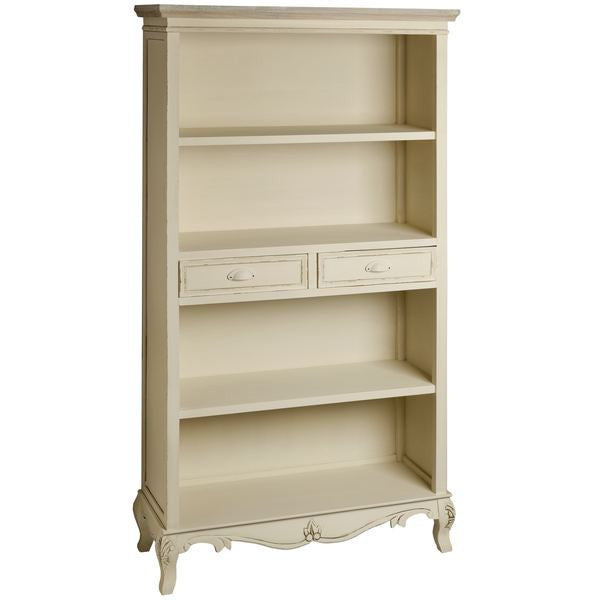 Jolie Country Cream Collection Tall Bookcase With Drawers