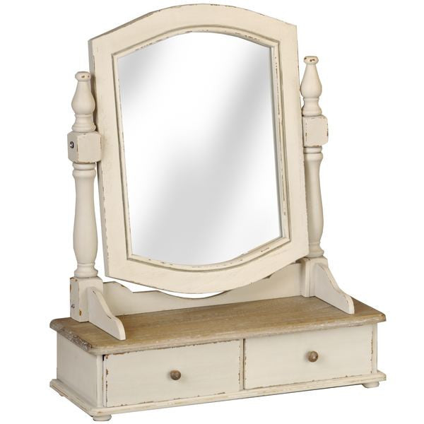 Jolie Country Cream Collection Dressing Table Trinket Mirror