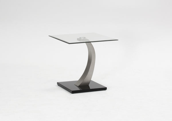 Amaroni Superb Contemporary Glass Lamp Table | Free UK Delivery