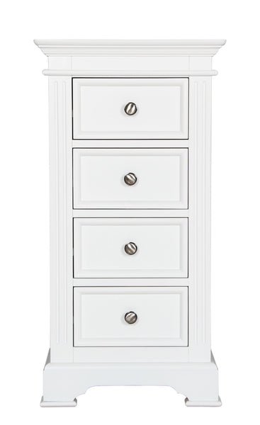 Berkeley Elegance White Wellington Chest Of 4 Drawers