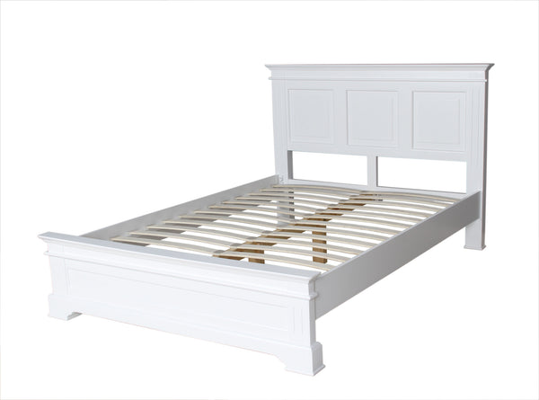 Berkeley Elegance High Quality Antique White King Size Bed Frame