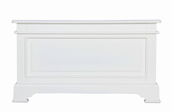 Berkeley Elegance High Quality White Blanket Box / Ottoman
