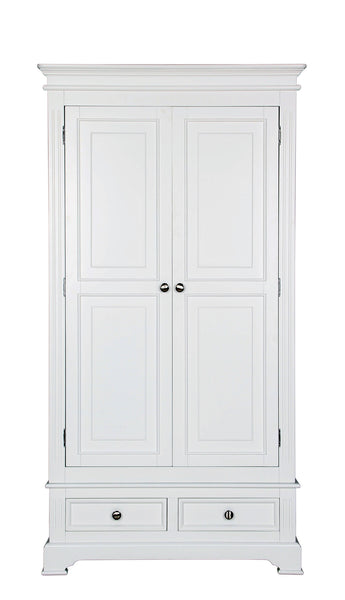 Berkeley Elegance High Quality Ivory 2 Door 2 Drawer Wardrobe