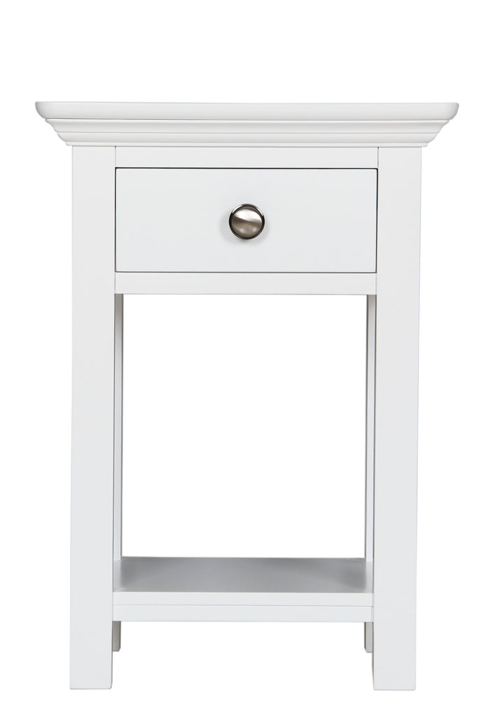 Berkeley Elegance High Quality Ivory 1 Drawer Bedside Table