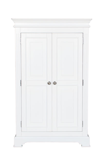 Berkeley Elegance High Quality White 2 Door Small Wardrobe