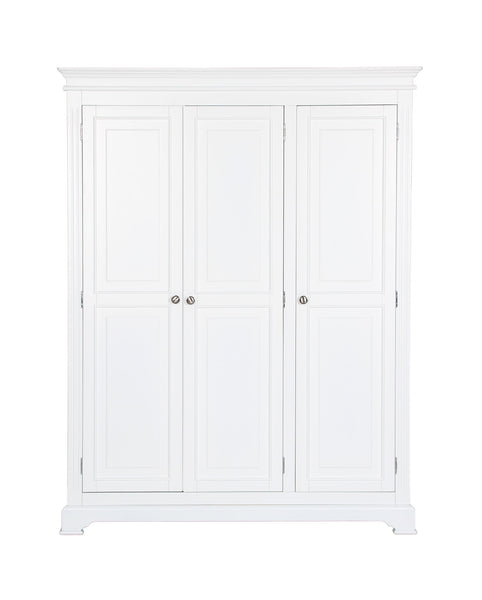 Berkeley Elegance High Quality Ivory 3 Door Wardrobe